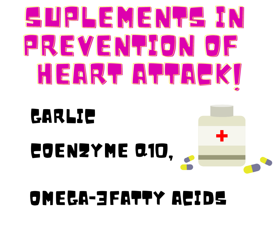 supplements in prevention of heart attack